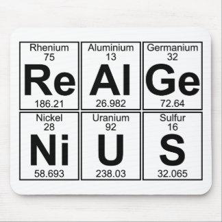 Alfombrilla De Ratón Re-Al-GE-Ni-U-s (genio real) - por completo