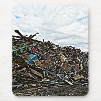 Alfombrilla De Ratón Recicle el pedazo de metal en el junkyard