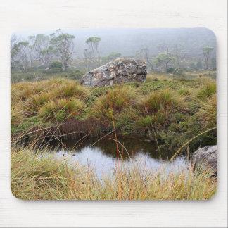 Alfombrilla De Ratón Reflexiones brumosas de la mañana, Tasmania,
