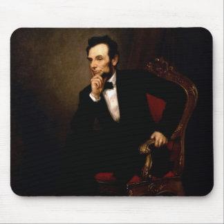 Alfombrilla De Ratón Retrato oficial de la Casa Blanca de Abraham Linco