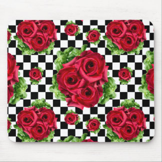 Alfombrilla De Ratón Rockabilly floral del amor del ramo de los rosas