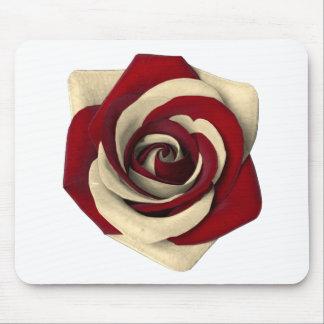 Alfombrilla De Ratón Rojo color de rosa