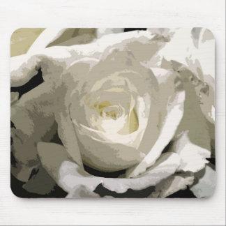Alfombrilla De Ratón Rosa blanco abstracto