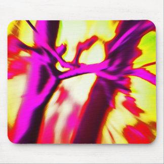 Alfombrilla De Ratón Rosas fuertes abstractas y diseño amarillo