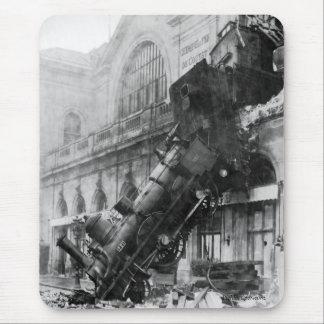 Alfombrilla De Ratón Ruina del tren en Montparnasse 1895