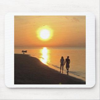 Alfombrilla De Ratón Salida del sol de Bali en la playa