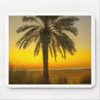 Alfombrilla De Ratón Salida del sol de la palmera