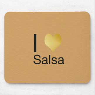 Alfombrilla De Ratón Salsa juguetónamente elegante del corazón de I