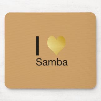 Alfombrilla De Ratón Samba juguetónamente elegante del corazón de I