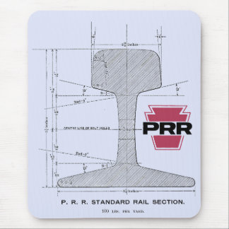 Alfombrilla De Ratón Sección de carril del ferrocarril de Pennsylvania