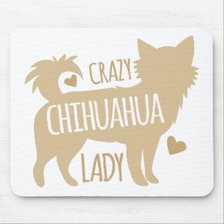 Alfombrilla De Ratón señora loca de la chihuahua