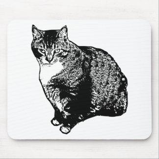 Alfombrilla De Ratón Sentada del gato