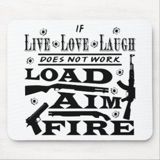 Alfombrilla De Ratón Si está vivo la risa del amor no hace fuego del