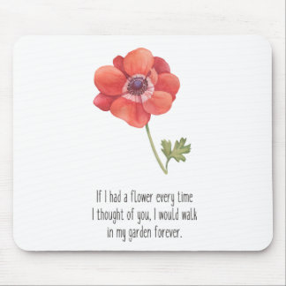 Alfombrilla De Ratón Si tenía una flor