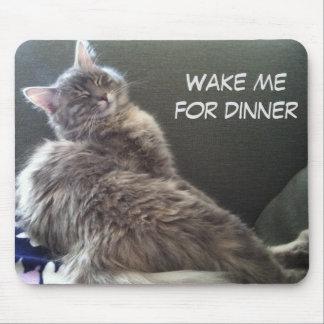 Alfombrilla De Ratón Siesta del gato: Despiérteme para la cena