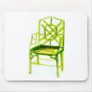 Alfombrilla De Ratón silla del chinoiserie para la tarjeta del lugar