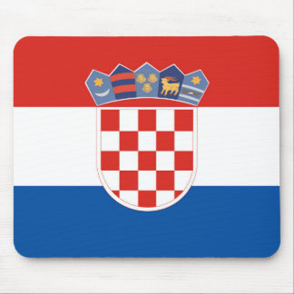 Alfombrilla De Ratón Símbolo de la bandera de país de Croacia de largo