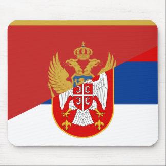 Alfombrilla De Ratón símbolo del país de la bandera de Serbia