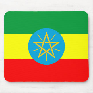 Alfombrilla De Ratón símbolo largo de la bandera de país de Etiopía