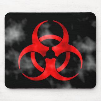 Alfombrilla De Ratón Símbolo rojo Mousepad del Biohazard que fuma