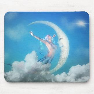 Alfombrilla De Ratón Sirena debajo de la luna Mousepad