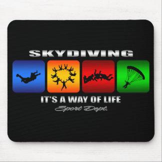 Alfombrilla De Ratón Skydiving fresco es una manera de vida