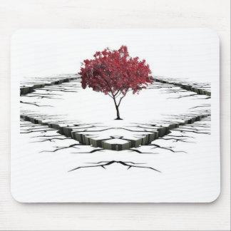 Alfombrilla De Ratón Solo árbol aislado de la naturaleza triste