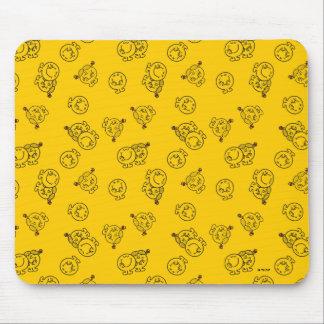 Alfombrilla De Ratón Sr. Happy y pequeño modelo amarillo de Srta.
