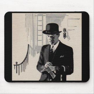 Alfombrilla De Ratón Sr. Natty de los años 20 el hombre vestido