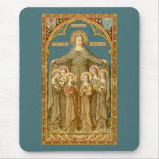 Alfombrilla De Ratón St. Clare de Assisi y de las monjas (SAU 027)