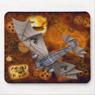 Alfombrilla De Ratón Steampunk dramático Mousepad en oros y marrones