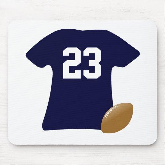 Alfombrilla De Ratón Su camisa del fútbol con la bola