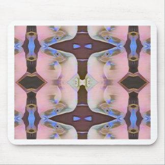 Alfombrilla De Ratón Suavemente rosa con acentos del bígaro de Brown