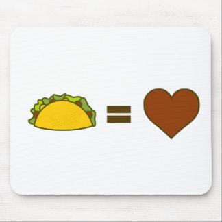 Alfombrilla De Ratón Taco=Love
