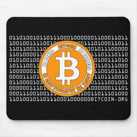 Alfombrilla De Ratón Tapete negro Bitcoin - M1