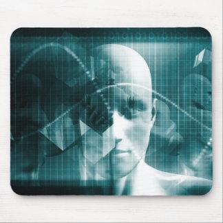 Alfombrilla De Ratón Tecnología futurista de la ciencia médica como