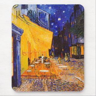 Alfombrilla De Ratón Terraza del café de Vincent van Gogh en la noche