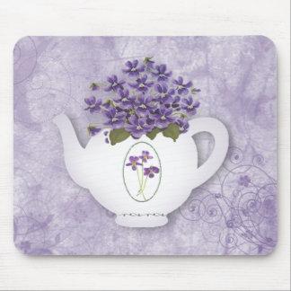 Alfombrilla De Ratón Tetera violeta Mousepad