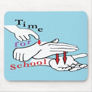 Alfombrilla De Ratón Tiempo del ASL para la escuela