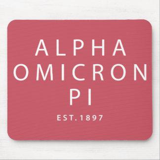 Alfombrilla De Ratón Tipo moderno alfa de Omicron pi