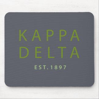 Alfombrilla De Ratón Tipo moderno del delta de Kappa