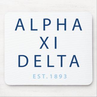 Alfombrilla De Ratón Tipo moderno del delta de la alfa XI