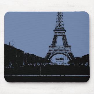 Alfombrilla De Ratón Torre Eiffel azul Mousepad