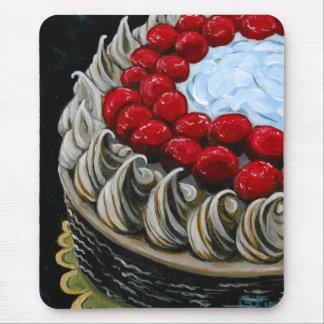 Alfombrilla De Ratón Torta de chocolate con las cerezas