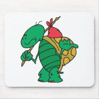 Alfombrilla De Ratón tortuga divertida del autostopista
