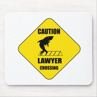 Alfombrilla De Ratón Travesía del abogado con el tiburón