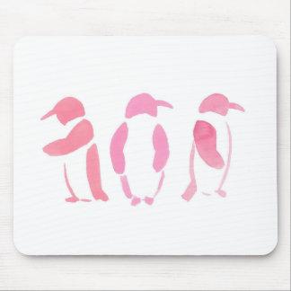 Alfombrilla De Ratón Trío rosado del pingüino