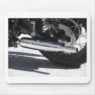 Alfombrilla De Ratón Tubo de escape cromado motocicleta. Vista lateral