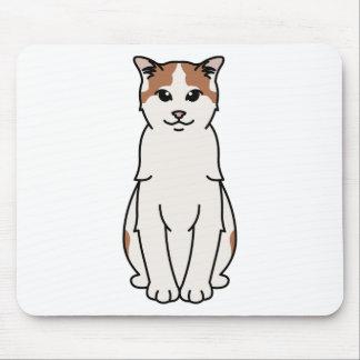 Alfombrilla De Ratón Turkish Van Cat Cartoon