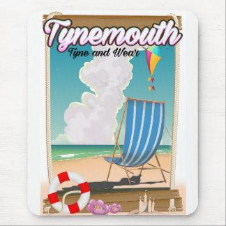 Alfombrilla De Ratón Tynemouth Tyne y desgaste, poster del viaje